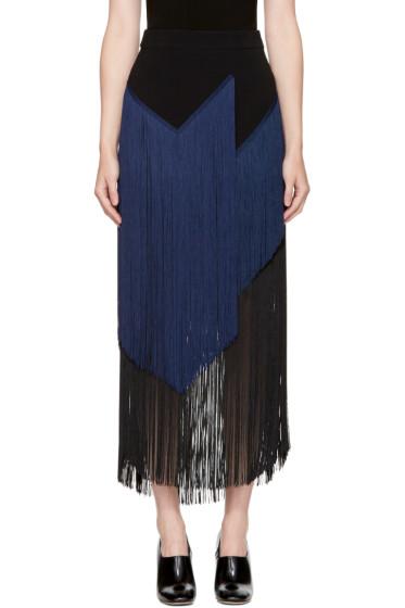 Stella McCartney - Black & Navy Veronica Fringe Skirt