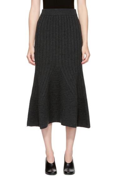 Stella McCartney - Grey Ribbed Skirt