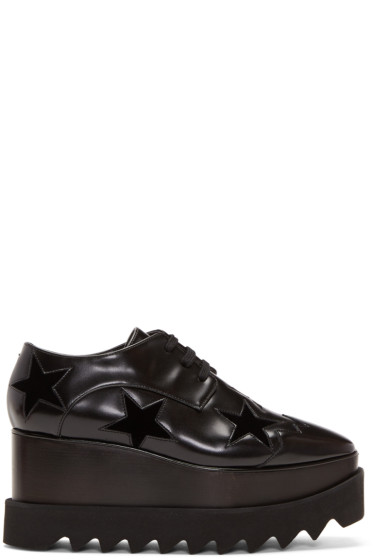 Stella McCartney - Black Elyse Star Platform Derbys