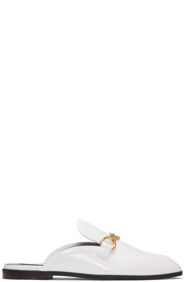 Stella McCartney - White Chain Slip-On Loafers