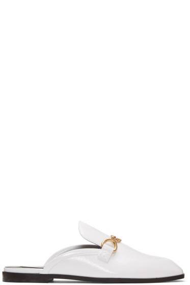 Stella McCartney - White Chain Slip-On Loafers