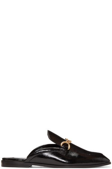 Stella McCartney - Black Chain Slip-On Loafers