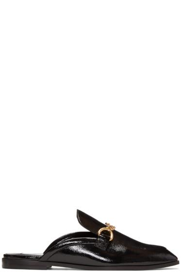 Stella McCartney - Black Chain Slip-On Loafers