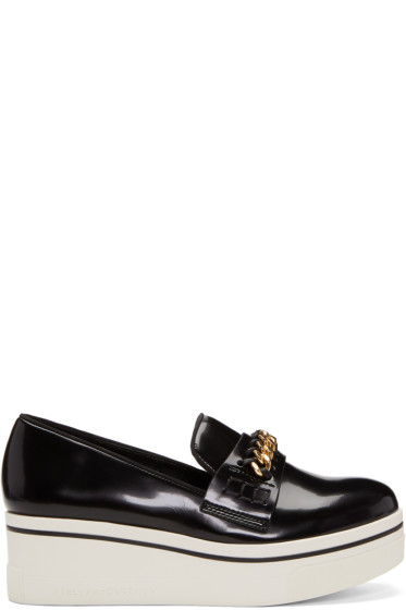 Stella McCartney - Black Binx Chain Platform Loafers