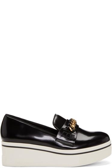 Stella McCartney - Black Binx Chain Platform Loafers