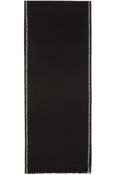 Stella McCartney - Black 'Members and Non Members Only' Scarf