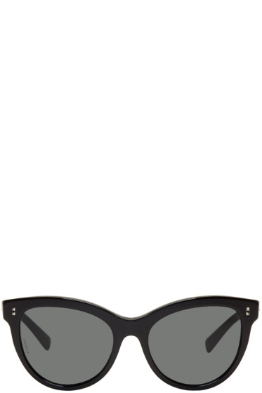 Valentino - Black Rockstud Cat-Eye Sunglasses