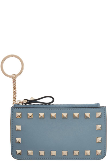 Valentino - Blue Rockstud Coin Pouch