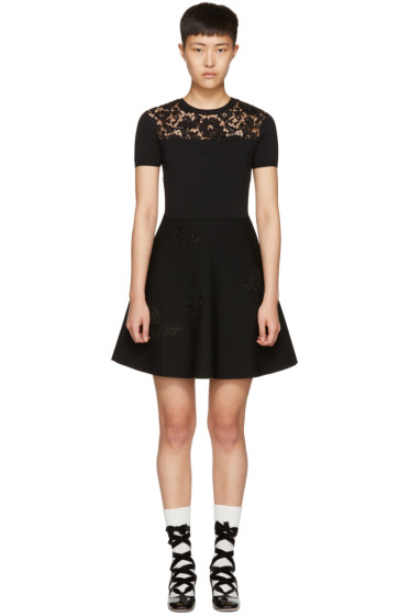Valentino - Black Knit Butterfly Dress