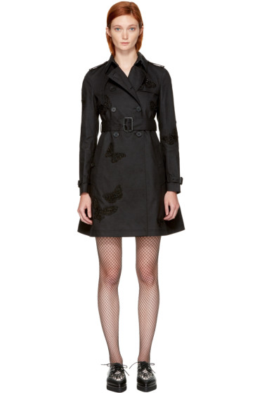 Valentino - Black Butterfly Trench Coat