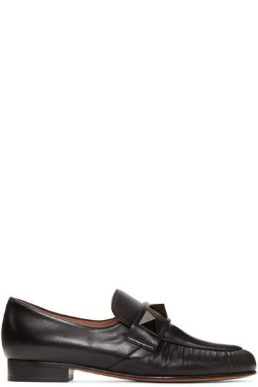 Valentino - Black Macro Rockstud Loafers