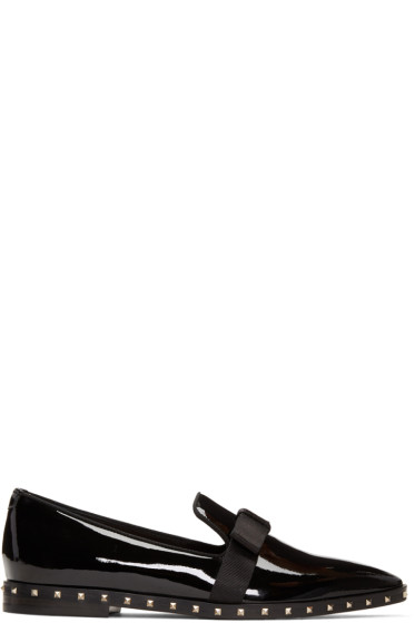 Valentino - Black Patent Rockstud Loafers