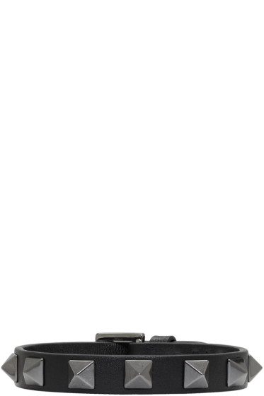 Valentino - ブラック ロックスタッド ブレスレット