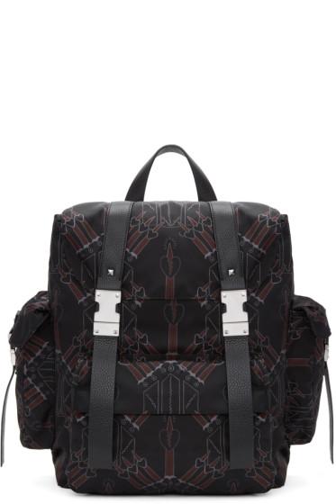 Valentino - Black Love Blade Rockstud Backpack