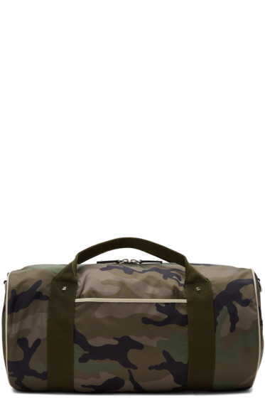 Valentino - Green Camo Rockstud Duffle Bag