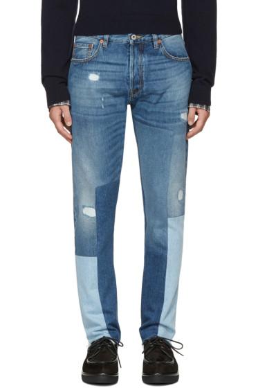 Valentino - Blue Patchwork 003 Jeans