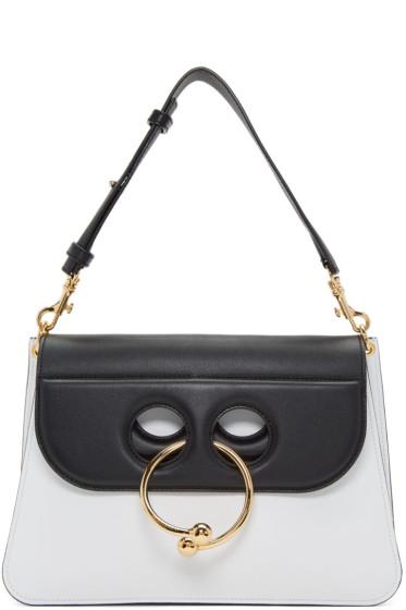 J.W. Anderson - White & Black Medium Pierce Bag