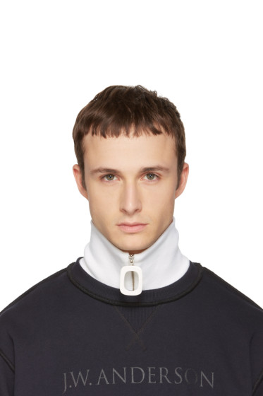 J.W. Anderson - White Merino Zip Neck Band