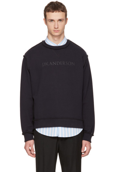 J.W. Anderson - Navy Logo Sweatshirt