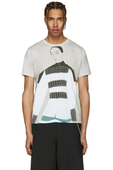 J.W. Anderson - SSENSE Exclusive Grey Kelly Beeman Edition Graphic T-Shirt