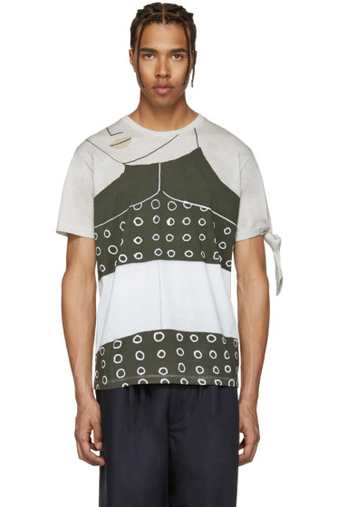 J.W. Anderson - SSENSE Exclusive Grey Kelly Beeman Edition Single Knot T-Shirt