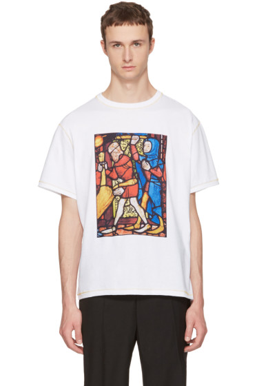 J.W. Anderson - White Stain Glass T-Shirt