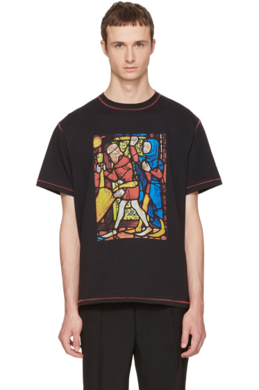 J.W. Anderson - Black Stain Glass T-Shirt