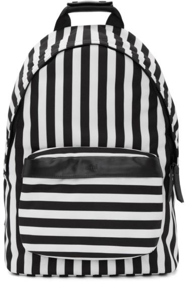 AMI Alexandre Mattiussi - Black & White Striped Backpack