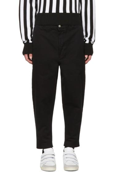 AMI Alexandre Mattiussi - Black Carrot Fit Worker Trousers