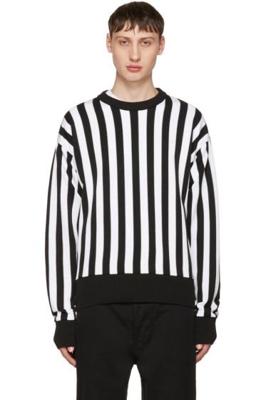 AMI Alexandre Mattiussi - Black & White Striped Sweater