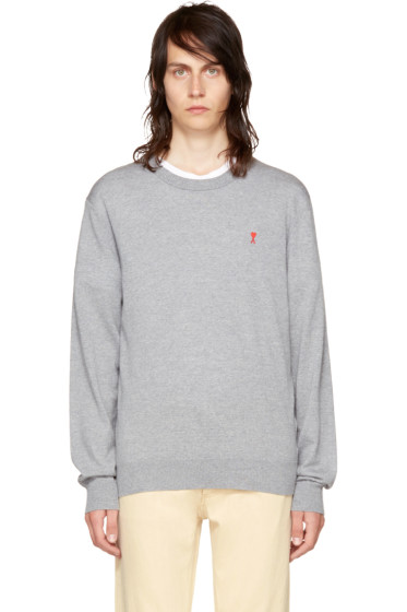 AMI Alexandre Mattiussi - Grey 'Ami de Coeur' Sweater