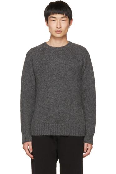AMI Alexandre Mattiussi - Grey Knit Pullover