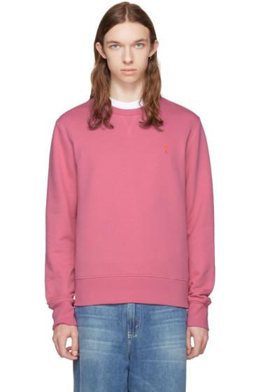 AMI Alexandre Mattiussi - Pink Crewneck Sweatshirt
