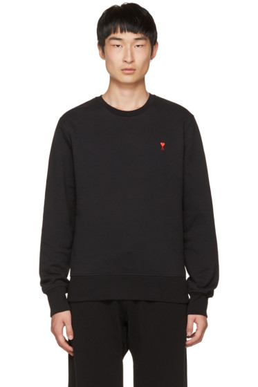 AMI Alexandre Mattiussi - Black Crewneck Sweatshirt