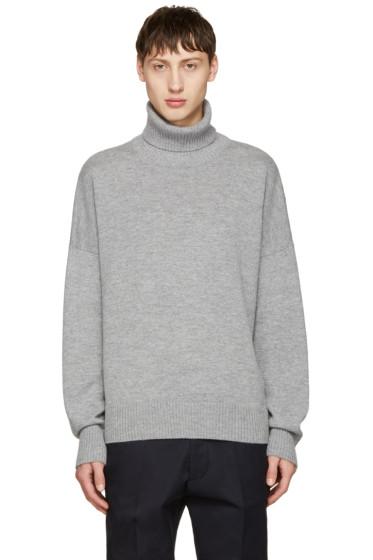 AMI Alexandre Mattiussi - Grey Oversized Merino Turtleneck