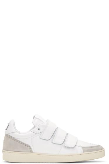 AMI Alexandre Mattiussi - White Straps Sneakers
