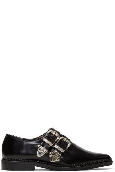 Toga Pulla - Black Two-Buckle Western Oxfords