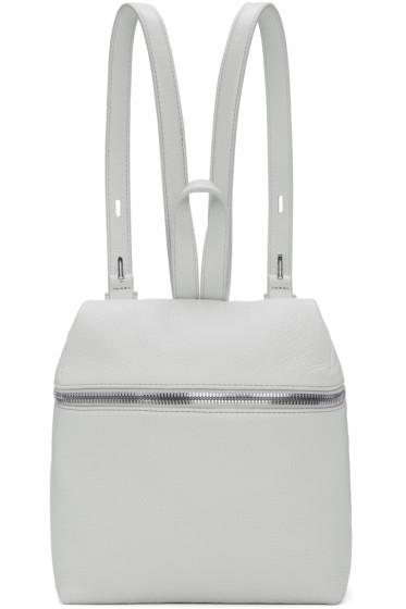 Kara - Blue Small Leather Backpack