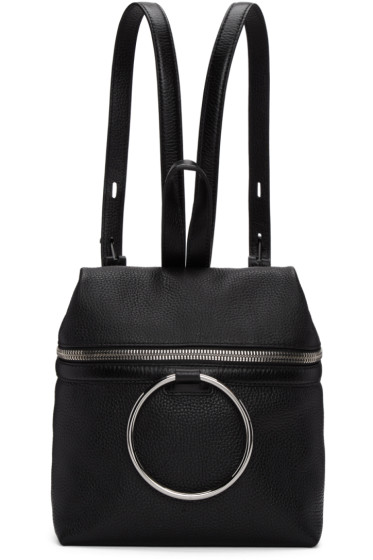 Kara - SSENSE Exclusive Black Small Ring Leather Backpack