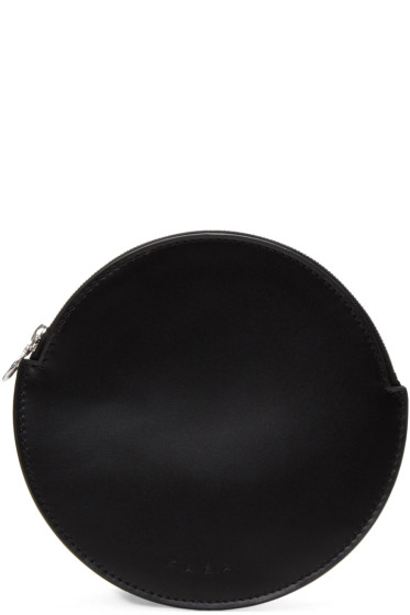 Kara - Black Flat Circle Pouch