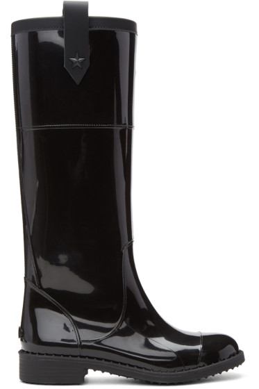 Jimmy Choo - Black Edith Rain Boots