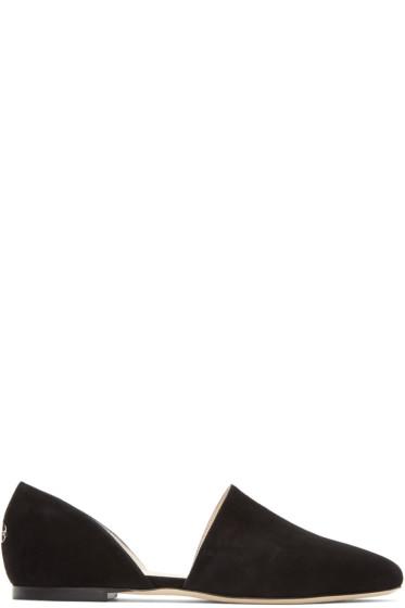 Jimmy Choo - Black Suede Globe Ballerina Flats