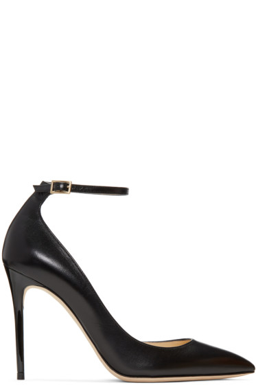 Jimmy Choo - Black Leather Lucy Heels