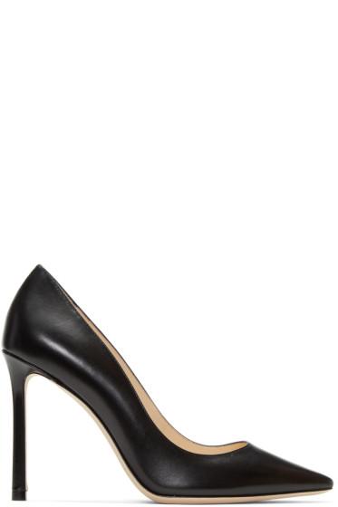 Jimmy Choo - Black Leather Romy Heels
