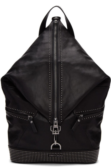 Jimmy Choo - Black Mini Studs Fitzroy Backpack
