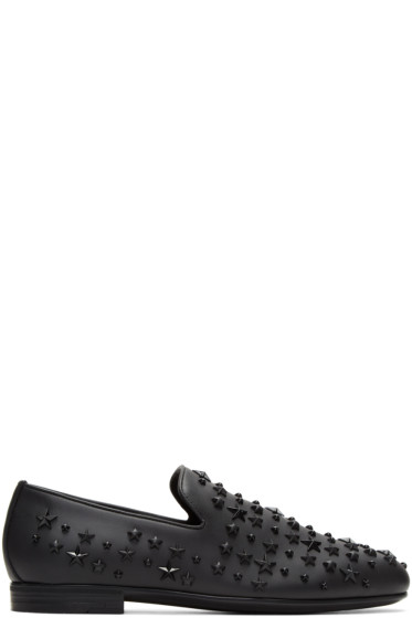 Jimmy Choo - Black Stars Sloane Loafers