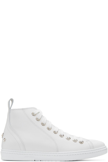 Jimmy Choo - White Star Colt High-Top Sneakers