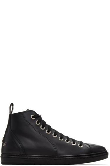 Jimmy Choo - Black Star Colt High-Top Sneakers