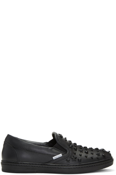 Jimmy Choo - Black Mixed Stars Grove Slip-On Sneakers