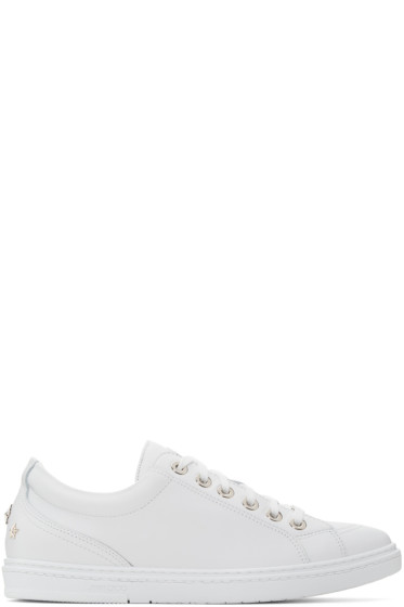 Jimmy Choo - White Stars Cash Sneakers